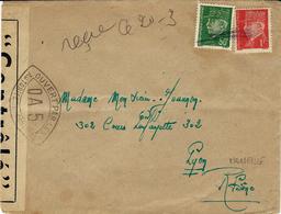 WWII - Enveloppe Affr. 1,50 F Pétain  Censure  Française O A 5  ( Marseille )  Pour Lyon - Postmark Collection (Covers)