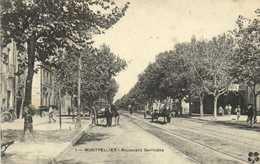 MONTPELLIER  Boulevard Gambetta Attelages RV  Cachet Regiment D'Infanterie De Montpellier Dépot - Montpellier