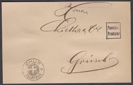 GR   CHUR  -   GRÜSCH   /  CHUR TELEPHON + PAUSCHAL FRANKIERT  (NUR VOREDERSEITE)  /  SELTEN - 1862-1881 Sitzende Helvetia (gezähnt)