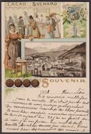 GR   CHUR  -   SUPER SUCHARD POSTKARTE -  CHUR - 1882-1906 Wappen, Stehende Helvetia & UPU