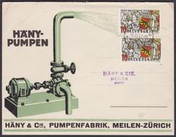 HAENNI PUMPEN MEILEN  /  TOLLER MOTIV-UMSCHLAG - Lettres & Documents