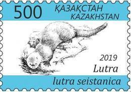 Kazakhstan 2019. Otter. Unused Stamp. - Kazakhstan