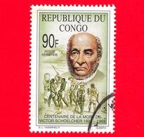 Congo Rep - Usato - 1993 - 100 Anni Della Morte Di Victor Schoelcher - 90 - Used