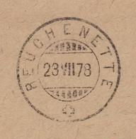 BE   REUCHENETTE PERRY  -  TRAMELAN  /  SUPER STEMPELBELEG - 1862-1881 Sitzende Helvetia (gezähnt)
