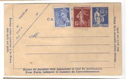 26461 - Paix  65 C Bleu - Postal Stamped Stationery