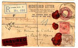 26462 - Entier Recommandé  Pour La France - 1902-1951 (Kings)
