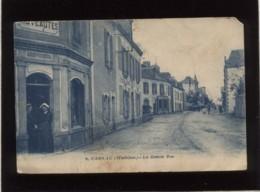 56 Carnac La Grande Rue édit. Nozais N° 9 Utilisée En Carte De Visite Par YVON Et KERIER Locations Et Ventes - Carnac