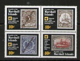 MARSHALL 1984 CONGRES DE L'UPU  YVERT N°51/54  NEUF MNH** - Marshall