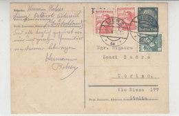 Deutsche Ganzsache Mit österreichischen Aus LIENZ 18.5.38 Nach Torino / Italien - 1918-1945 1st Republic