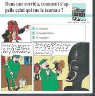"FICHE ARTS, SPORTS, LOISIRS  N° 115  "" TINTIN  ""  ( Déssin: HERGE )      L'OREILLE CASSEE  - 15X15 - Hergé"
