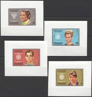 UU296 !!! IMPERFORATE SHARJAH GREATEST PEOPLE WINNERS OLYMPIC GAMES 1968 4BL MNH - Verano 1968: México