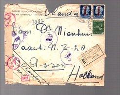 1944 Censor QUARNA-SOTTO Pittore Edmondo Poletti Novarra > Holland Assen (266) - 4. 1944-45 Repubblica Sociale