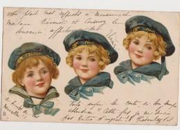 Cpa Fantaisie / Enfants En Habit De Marin / Raphael Tuck & Sons' - Dessins D'enfants