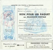 Franchise Militaire N°15 Feuillet Pour Colis Cote 10€ - Franchise Stamps