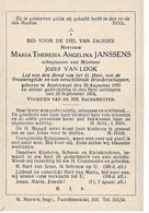 Austruweel, 1934, Maria Janssens, Van Look - Devotieprenten