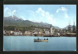 AK Patras, Hafenpanorama Mit Leuchtturm - Griechenland