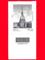 Nuovo - MNH - ITALIA - 2013 - Patrimonio Artistico-culturale Italiano - 0,70 - Mole Antonelliana, Torino - Barre 1557 - 6. 1946-.. Republic
