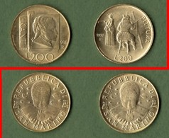 M-SM San Marino Serie N. 2 Monete Da 200 Lire (1996 +1997) - San Marino