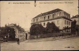 Cp Aix Les Bains Savoie, Ecole Superieure De Jeunes Filles Et Villa Sevigne - Autres Communes