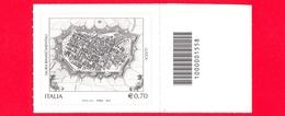 Nuovo - MNH - ITALIA - 2013 - Patrimonio Artistico E Culturale - 0,70 - Mura Rinascimentali, Lucca - Cod Barre 1558 - Codici A Barre