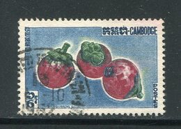 CAMBODGE- Y&T N°124- Oblitéré (fruits) - Cambodia
