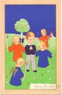 Devotie - Devotion - Communie Communion - Jacques Cantaert - Ronse 1946 - Illustr James Pennyless - Communion