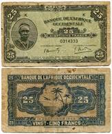 Afrique-Occidentale Française - AOF - 25 Francs - 1942 - Banknotes