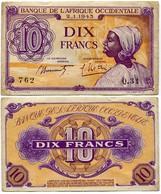 Afrique-Occidentale Française - AOF - 10 Francs - 1943 - Banknotes