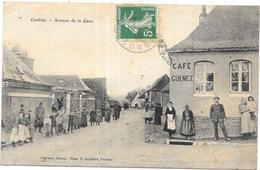COMBLES: AVENUE DE LA GARE - Francia