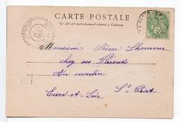 FRANCE - CACHET : ST PIAT (EURE ET LOIR) / CPA  LA FERTÉ-BERNARD - Marcophilie (Lettres)