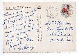 FRANCE - CACHET : LANDIVISIAU CP N° 3 / CP FOLKLORE - Storia Postale
