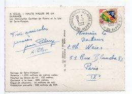 FRANCE - CACHET : CHATEAUROUX-LES-ALPES (HAUTES ALPES) / CP HAUTE VALLÉE DE LA DURANCE - Storia Postale