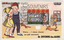 01 CARTE A SYSTEME **Viens...! Viens Choisir Un Joli Souvenir De DIVONNE-les-BAINS** (système Complet De 10 Vues) - Divonne Les Bains
