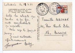 FRANCE - CACHET : LA BUSSIÈRE-SUR-OUCHE (CÔTE D'OR) / CP LE CHÂTEAU - Poststempel (Briefe)