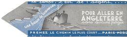 MARQUE-PAGE SIGNET BOOKMARK TOURISME PLAGES DU NORD ANGLETERRE PARIS NORD TRAIN - Bookmarks