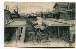 CPA  94 : NOGENT Sur MARNE  La Gare Avec Train  A   VOIR   !!!! - Nogent Sur Marne