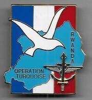Opération Turquoise - RWANDA - Insigne Ségalen 1994 - Armée De Terre