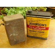 Bidon Cire Johnson Boite Militaria Vide/1894-21 Laptg7c - Otras Colecciones