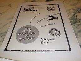 ANCIENNE PUBLICITE POUR VOTRE VOITURE FABRIQUES PAR CAM 1926 - Manifesti