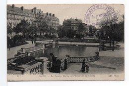 FRANCE - TAMPON : 5° RÉGIMENT D'ARTILLERIE ... (1915) / CPA DIJON SQUARE DARCY - Storia Postale