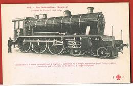 Chemins De Fer De L'Etat Belge- Les Locomotives- Locomotive à 6 Roues - Construite à LIEGE-FLEURY N° 198-Paypal Free - Matériel