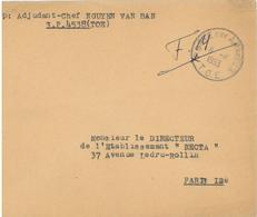 Franchise Militaire F. M. - Poste Aux Armees - T.O.E. Théâtres D'Opérations Extérieurs  Nguyễn Văn Bản S.P. 4538 Vietnam - Franchise Stamps