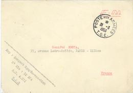 Franchise Militaire F. M. - Poste Aux Armees - T.O.E. Théâtres D'Opérations Extérieurs Nguyễn Văn Ninh S.P. 4171 Vietnam - Franchise Stamps