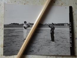 17 LA ROCHELLE MILITARIA PHOTO BASE AMERICAINE DE L'OTAN BASEBALL  12 MAI 1963 12.2 X 10.3 CM - Luoghi