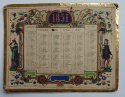 PETIT CALENDRIER DE 1851 - Formato Piccolo : ...-1900