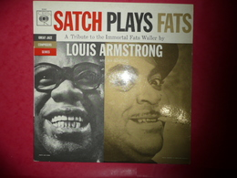 LP33 N°388 -SATCH PLAY FATS -A TRIBUTE TO THE IMMORTAL FATS WALLER BY LOUIS ARMSTRONG & ALL STARS-COMPILATION 9 TITRES - Jazz