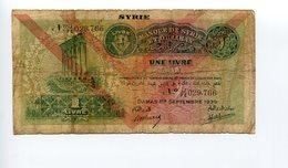 Syria - 1 Livre - 1939 - Syria