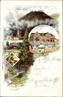 Lithographie Brotterode Trusetal In Thüringen, Inselsberg, Gothaisches Hotel, Torstein, Wald - Deutschland
