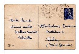 FRANCE - CACHET :  CASTELNAU-BARBARENS (GERS) / CP PAYSAGE - 1921-1960: Moderne
