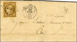 PC 3423 / N° 1 Càd T 15 TRIE-S-BAISE (63) B. RUR. M Sur Lettre Avec Texte Daté De Bonnefont Le 24 Août 1855, Adressée Lo - 1849-1850 Cérès